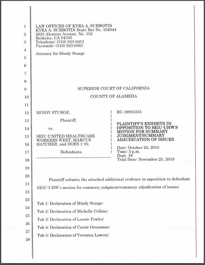 Legal Filing Containing SEIU Investigation into Marcus Hatcher